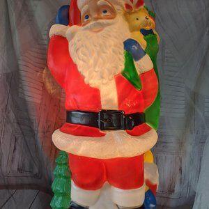 Tpi Santa bag presents tree blow mold Xmas 40″ dec